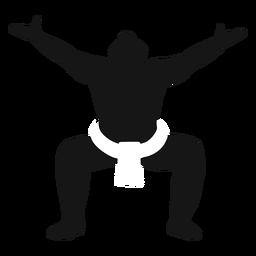 Pose de luchador de sumo