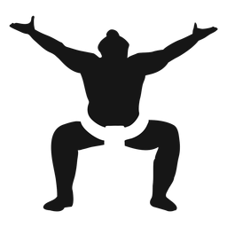 Sumo fighter pose