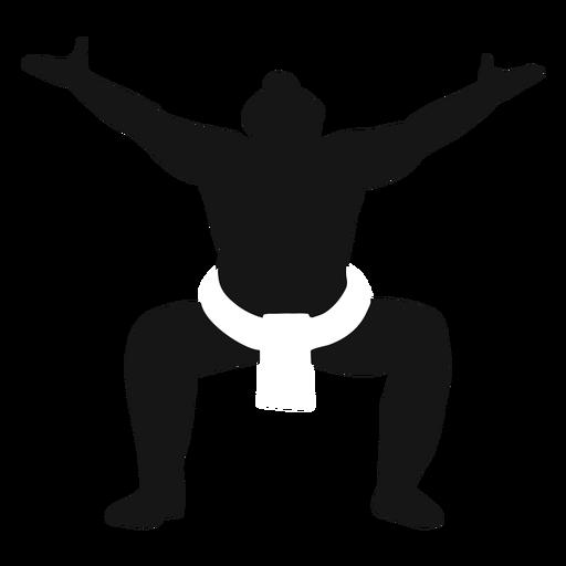 Sumo fighter pose