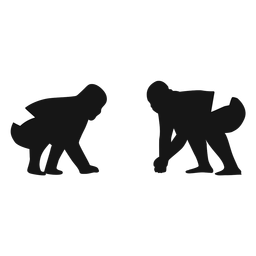 Sumo fighters silhouette