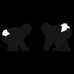 Sumo fighters silhouette