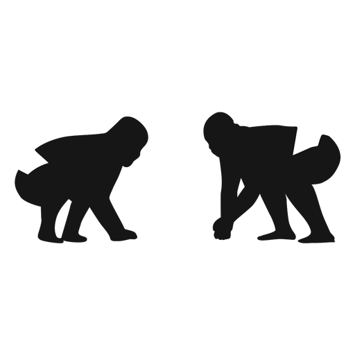 Sumo fighters silhouette Transparent PNG