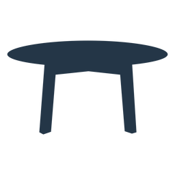 Table silhouette simple