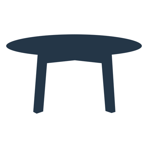 Table silhouette simple Transparent PNG