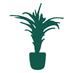 Tall plant silhouette