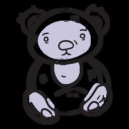 Traço de urso de pelúcia