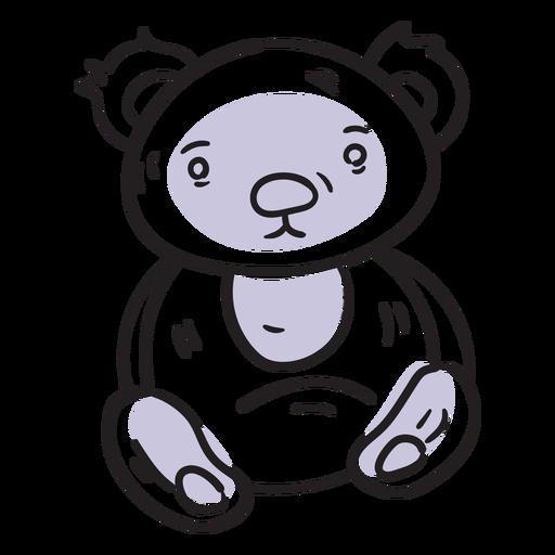 Golpe de oso de peluche