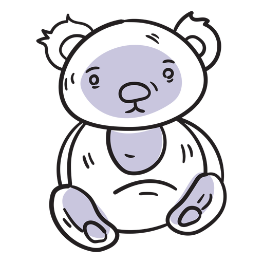 Teddy bear stroke Transparent PNG