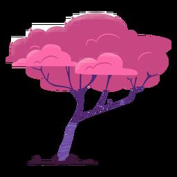 Árbol de safari colorido de rama delgada