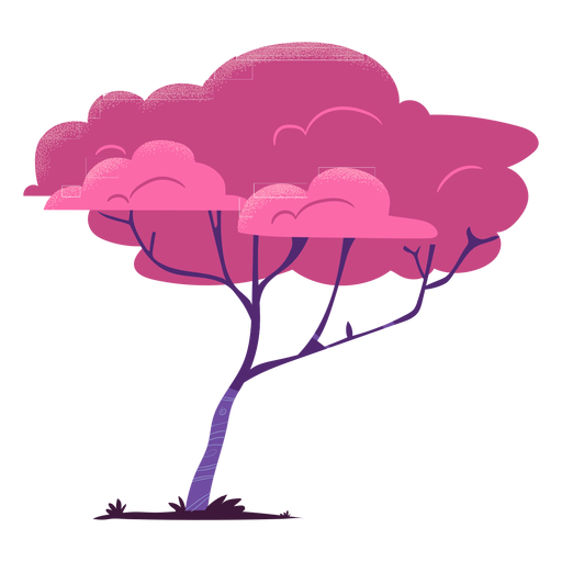 Thin branch colorful safari tree Transparent PNG