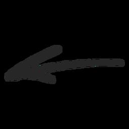 Flecha delgada de graffiti