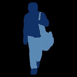 Silueta de bolso turístico