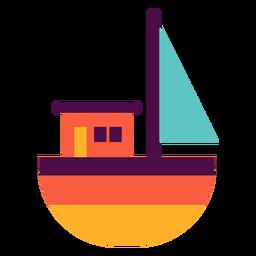 Barco de brinquedo plano