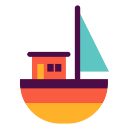 Toy boat flat