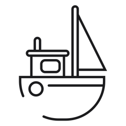 Icono de barco de juguete