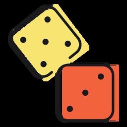 Icono de dados de juguete