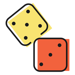 Dice with map - Transparent PNG & SVG vector file