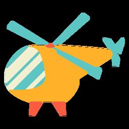 Helicóptero de brinquedo plano