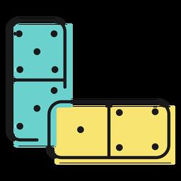 Domino de icono de juguete
