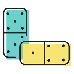 Toy icon domino