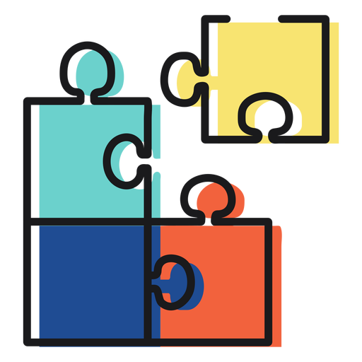 Puzzle de icono de juguete