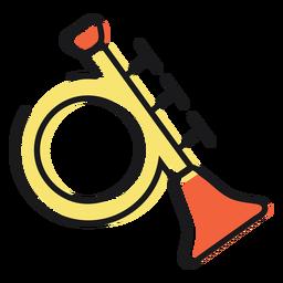Toy icon trumpet