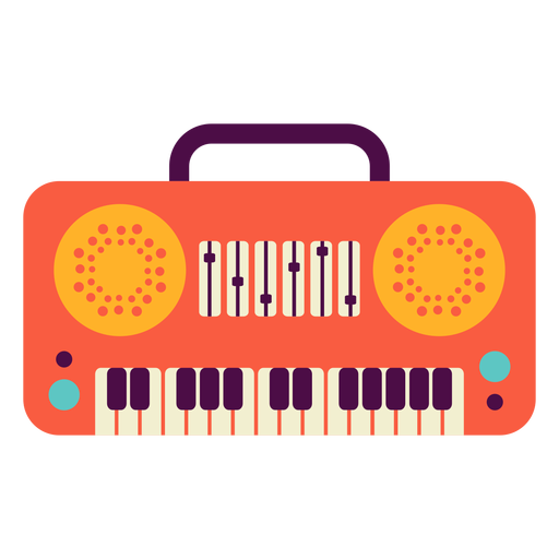 Toy piano flat Transparent PNG