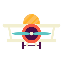 Spielzeug Flugzeug flach