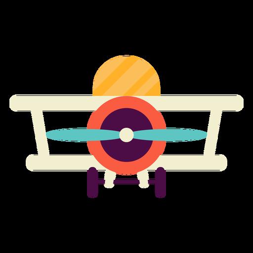 Avión de juguete plano