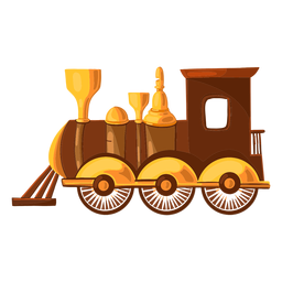 Toy train illustration