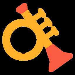 Toy trumpet flat