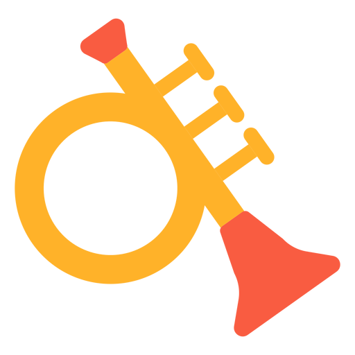 Toy trumpet flat Transparent PNG