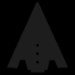 Vetor de nave espacial com ponta de triângulo