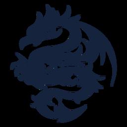 Diseño tribal del dragón