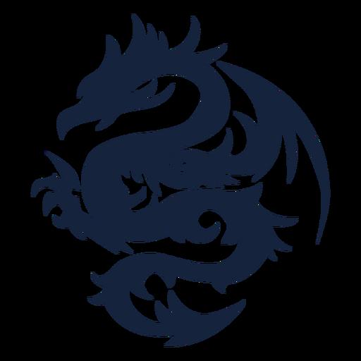 Diseño de dragón tribal