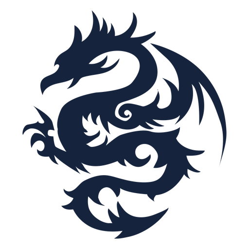 Tribal dragon design Transparent PNG