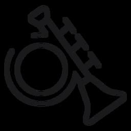Icono de trompeta de juguete