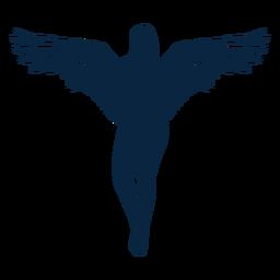 Pose de anjo de vetor