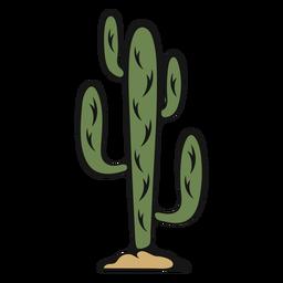 Vintage cactus cowboy