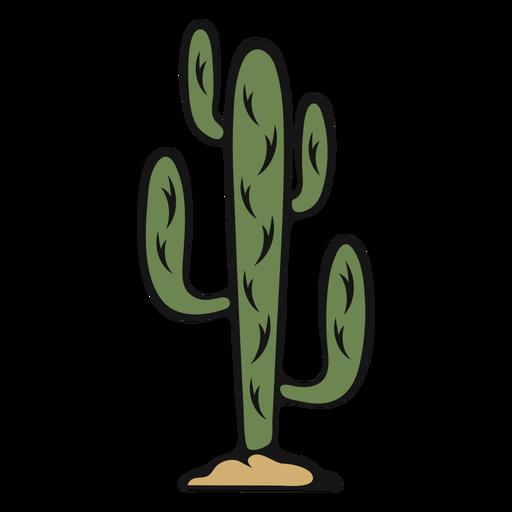 Vintage cactus cowboy Transparent PNG