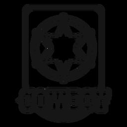 Vintage cowboy badge