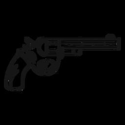 Arma de vaqueiro de traço vintage