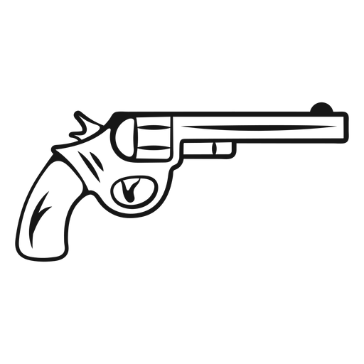 Pistola de vaquero de trazo vintage Transparent PNG