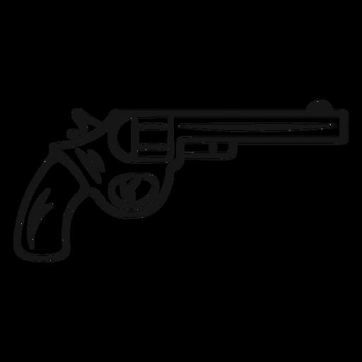 Pistola de vaquero de trazo vintage