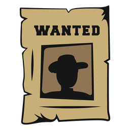 Wanted cowboy vintage