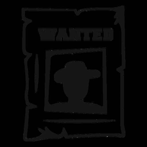 Wanted cowboy vintage stroke