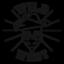 Insignia del cráneo del salvaje oeste