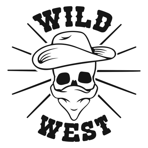 Wild west skull badge