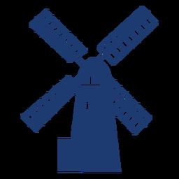 Vector simple de molino de viento