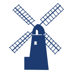 Windmill simple vector